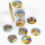 Happy Birthday Jesus stickers - 50 pack
