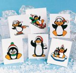 Penguin Christmas Tattoos:  pack of 12