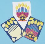 Jewish Craft - Make a Menorah of thanks sticker sheets - 12 pack
