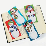 Wiggly Eye Christmas Snowman Bookmark:  1 item