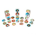 Colourful Christmas Stickers:  Pack of 50