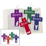 Nativity Cross Bookmarks - Pack of 12