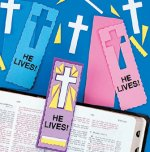 "Christian craft - ""He Lives"" bookmark craft - 12 pack"