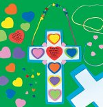 Sunday School Craft - Love is patient cross craft kit - 12 pack