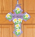 Christian craft - 'He's Risen' Cross craft - 12 pack