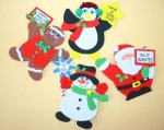Christmas Craft -Christmas Character Crafts - 12 pack