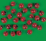 Ladybird Glass Beads - 10 pack
