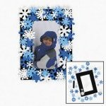 Snowflake Foam Frame Craft:  1 unit