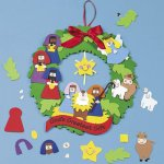 Christmas Nativity Wreath Craft:  1 unit