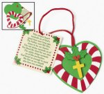 Christmas Candy Cane Cross Craft - 12 Pack
