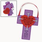 Christian Cross with Nails Craft - 12 Pack