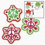 Christmas Peace on Earth Magnet Craft:  12 pack