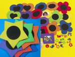 Foam Star Frames with Self Adhesive Shapes - 6 Pack