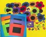 Foam rectangular Frames with Self Adhesive Shapes - 6 Pack