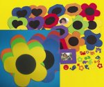 Foam Flower Frames with Self Adhesive Shapes:  6 Pack