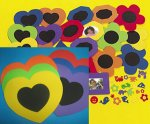 Foam Heart Frames with Self Adhesive Shapes:  6 Pack