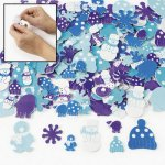 Snowy Winter Self Adhesive Foam Shapes - Pack of 50