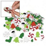 Christmas Self Adhesive Foam Shapes:  pack of 50