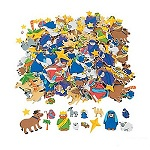 Self Adhesive Foam Nativity Shapes - Pack of 50