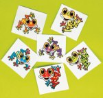 Funky Frog Tattoos:  12 pack