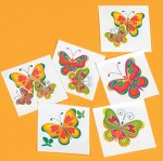 Butterfly Tattoos:  12 pack