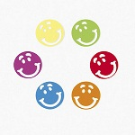 Smiley Face Confetti:  5g bag