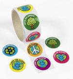 Eco Save the Earth Stickers - 50 Pack