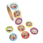 Happy Birthday Stickers - Pack of 50