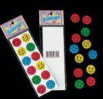 Prism Smiley Face Stickers - 1 sheet