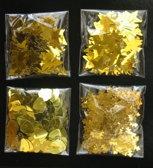 Gold confetti selection pack