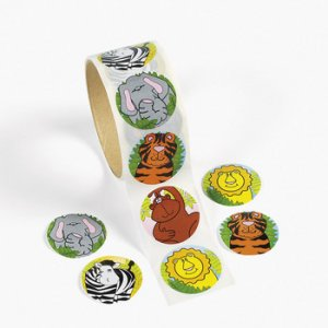 Jungle Animal Stickers:  50 stickers