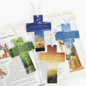 Christian Picture Cross Bookmark  - 1 unit