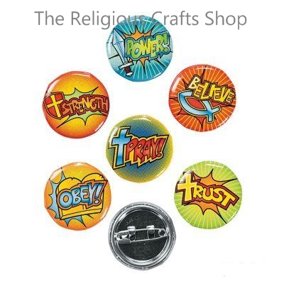 Fantastic Faith Badges - Pack of 6