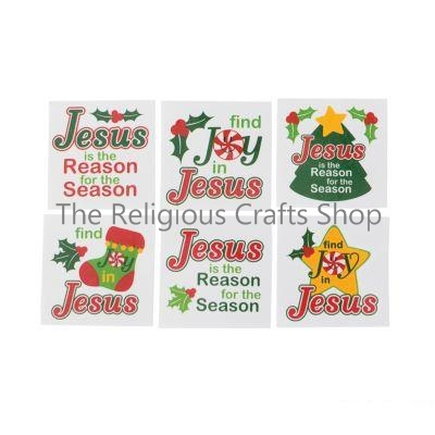 Be Joyful in Jesus Tattoos:  pack of 12