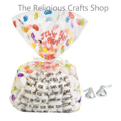 Easter Prayer Cellophane Bags:  Pack of 12