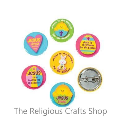 Jesus is the Reason for The Season Easter Badges - Pack of 4