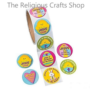 Christian and religious crafts supplies and gift for sunday jesus is the reason easter stickers 50 stickers negle Images