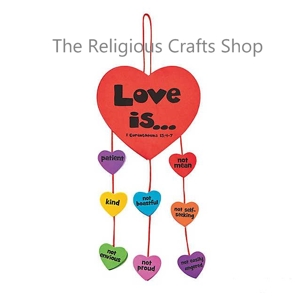 Faith 'Love is' Mobile Craft - 1 unit