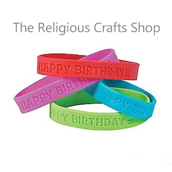 Happy Birthday Rubber Bracelet:  1 unit