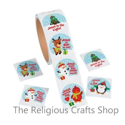Cute Christmas Inspirational Stickers - Pack of 50