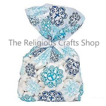 Christian Snowflake Cellophane Bags - Pack of 12