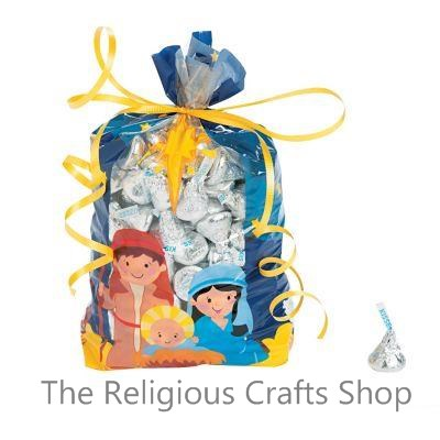 Nativity Cellophane Bags - Pack of 12