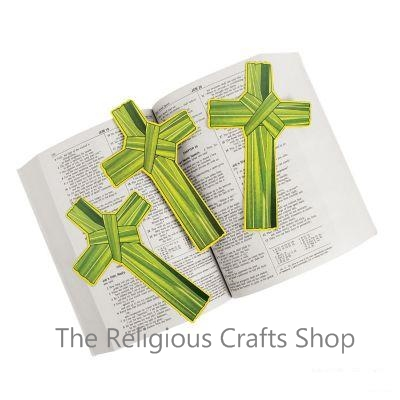 Palm Leaf Cross Bookmark - 1 unit