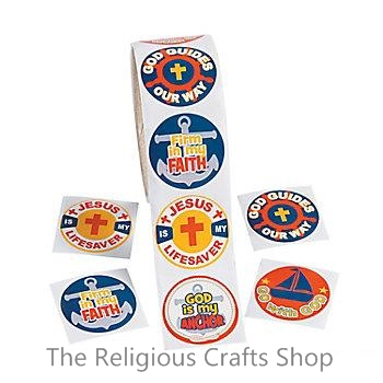 Christian Nautical Stickers - pack of 50