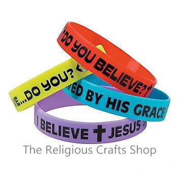Do You Believe Rubber Bracelet:  1 unit