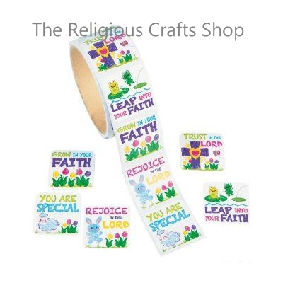 Square Christian Message Stickers - Pack of 50