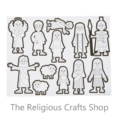 Colour Your Own Easter Sticker Scene:  Pack of 12