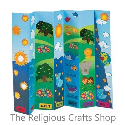 'The Creation' Fold up Scene with Sticker Sheets:  Pack of 12