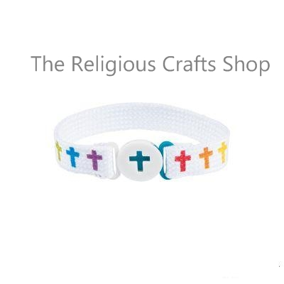 Sunday School Pack - 12 Colourful Cross Friendship Bracelets