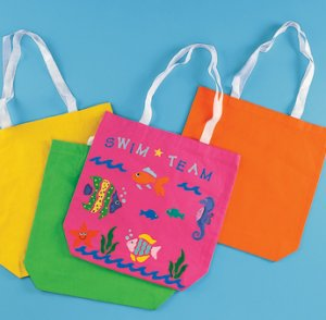 Neon Canvas Tote bags - 4 pack